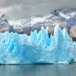 Blue icebergs at Grey Glacier in Torres del Paine — Stock Photo #58643609