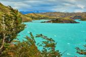 Scenic view of Pehoe lake in Torres del Paine — Stock Photo