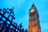 Scenic view of Big Ben at sunset — Stock Photo