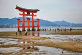 View of Torii gate in Miyajima, Japan — Stock Photo