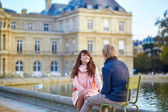 Happy young couple having a date in Paris — Stock Photo