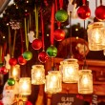 Decorations on a Parisian Christmas market — Stock Photo #60178433