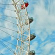 Ferris wheel against a blue sky — Stock Photo #60230311