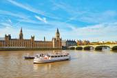 Big Ben with river Thames, London — Stock Photo