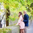 Young dating couple in Paris on a nice spring day — Stock Photo #60702593