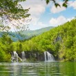 Beautiful cascades in Plitvice national park — Stock Photo #61826389