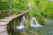 Cascades in Plitvice lakes national park — Stock Photo