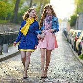 Two cheerful girls in Paris — Stock Photo