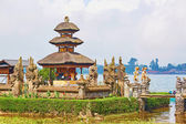 Balinese water palace on Bratan lake — Stok fotoğraf