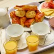 Delicious breakfast for two — Stock Photo #63150443