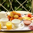 Delicious breakfast for two — Stock Photo #63150461