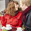 Couple having a date in cafe — Stock Photo #64489583