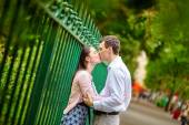Dating couple outdoors in Paris — Stock Photo