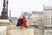Romantic couple in love having a date — Stock Photo