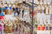 Eiffel tower trinkets in Paris, France — Stock Photo