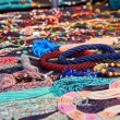 Many colourful necklaces — Stock Photo #68425653