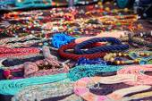 Many colourful necklaces — Stock Photo