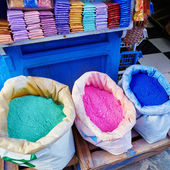 Colorants for sale in Chefchaouen — Stock Photo