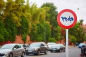 Sign on a street of Marrakech — Stock Photo