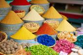Selection of spices on a Moroccan market — Stock Photo