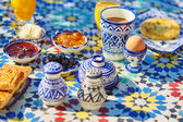 Delicious breakfast in Moroccan style — Stock Photo