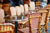 Table of cozy Parisian restaurant — Stock Photo