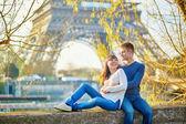 Young romantic couple in Paris — Stock Photo