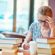 Student studying or preparing for exams — Stock Photo #71899039
