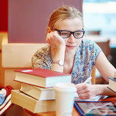 Student studying or preparing for exams — Stock Photo