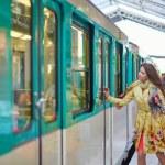 Young beautiful Parisian woman in subway — Stock Photo #72463493