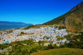 Chefchaouen, town known for its blue houses — Stock Photo