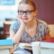 Student studying or preparing for exams — Stock Photo #74071307