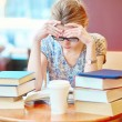 Student studying or preparing for exams — Stock Photo #74071315