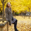 Young girl in Paris on a fall day — Stock Photo #74578461