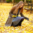 Young girl in Paris on a fall day — Stock Photo #74578531