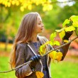 Young girl in Paris on a fall day — Stock Photo #74578653