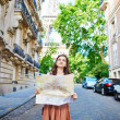 Young tourist on a street of Paris — Stock Photo #78670774