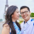 Young romantic Asian couple in Paris — Stock Photo #79091906