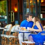 Romantic dating couple in Paris — Stock Photo #80274372