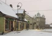 Small town in a winter season. — Stock fotografie