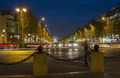 View to the street in Paris. — Stok fotoğraf