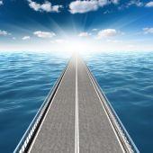 Абстрактная дорога в море — Стоковое фото