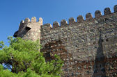 Wall of ancient Narikala fortress in old Tbilisi,Georgia.One of popular tourist destination — Stock Photo