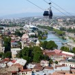 Cableway in old Tbilisi ,view from Narikala fortress.Tiflis is the capital and largest city of Georgia, Central Asia — Stock Photo #57273101