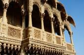 Rajasthan state popular touristic landmarks,India  - traditional architecture of golden city Jaisalmer , unesco heritage — Stock Photo