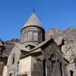 Geghard or Ayrivank medieval monastery surrounded by cliffs,Kotayk province,Armenia, unesco world heritage site — Stock Photo #68349587
