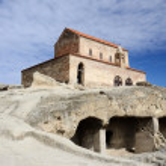 Orthodox church in ancient cave town Uplistsikhe,eastern Georgia, Caucasus,Euroasia — Stock Photo #68349693
