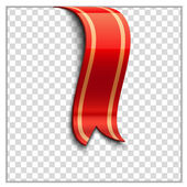 Red bookmark decoration ribbon — Stock Vector