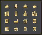 Gebäude-symbole — Stockvektor