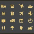 Logistics icons set — Stock Vector #53891929